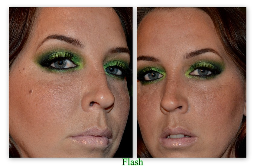 green flash on