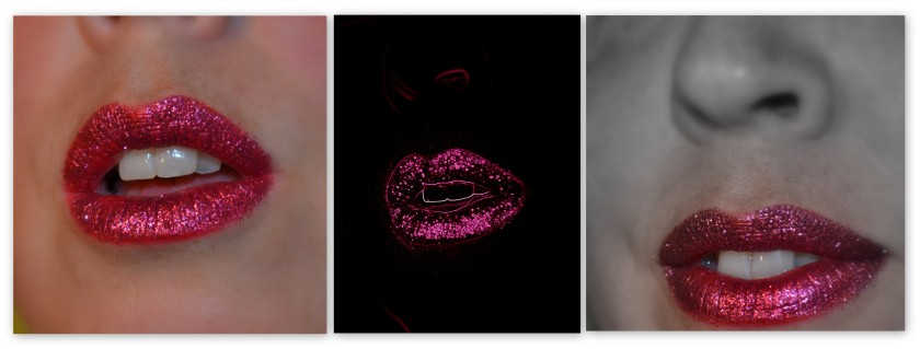 Magenta Glitter Lip 2