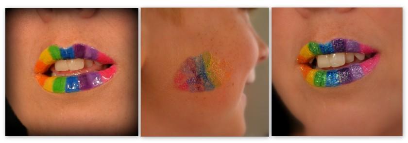 Rainbow Candy lip + Glitter