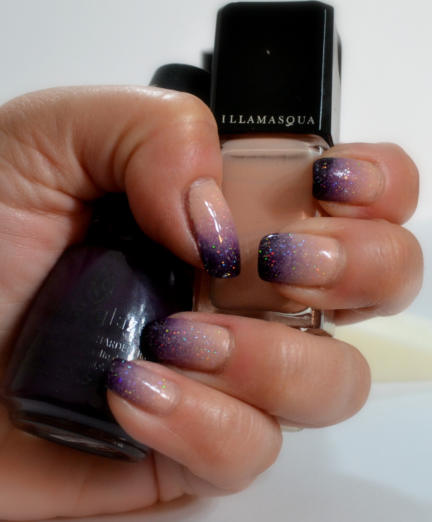Manicure: Ombre/Gradient, Nude Purple – Llewsoba