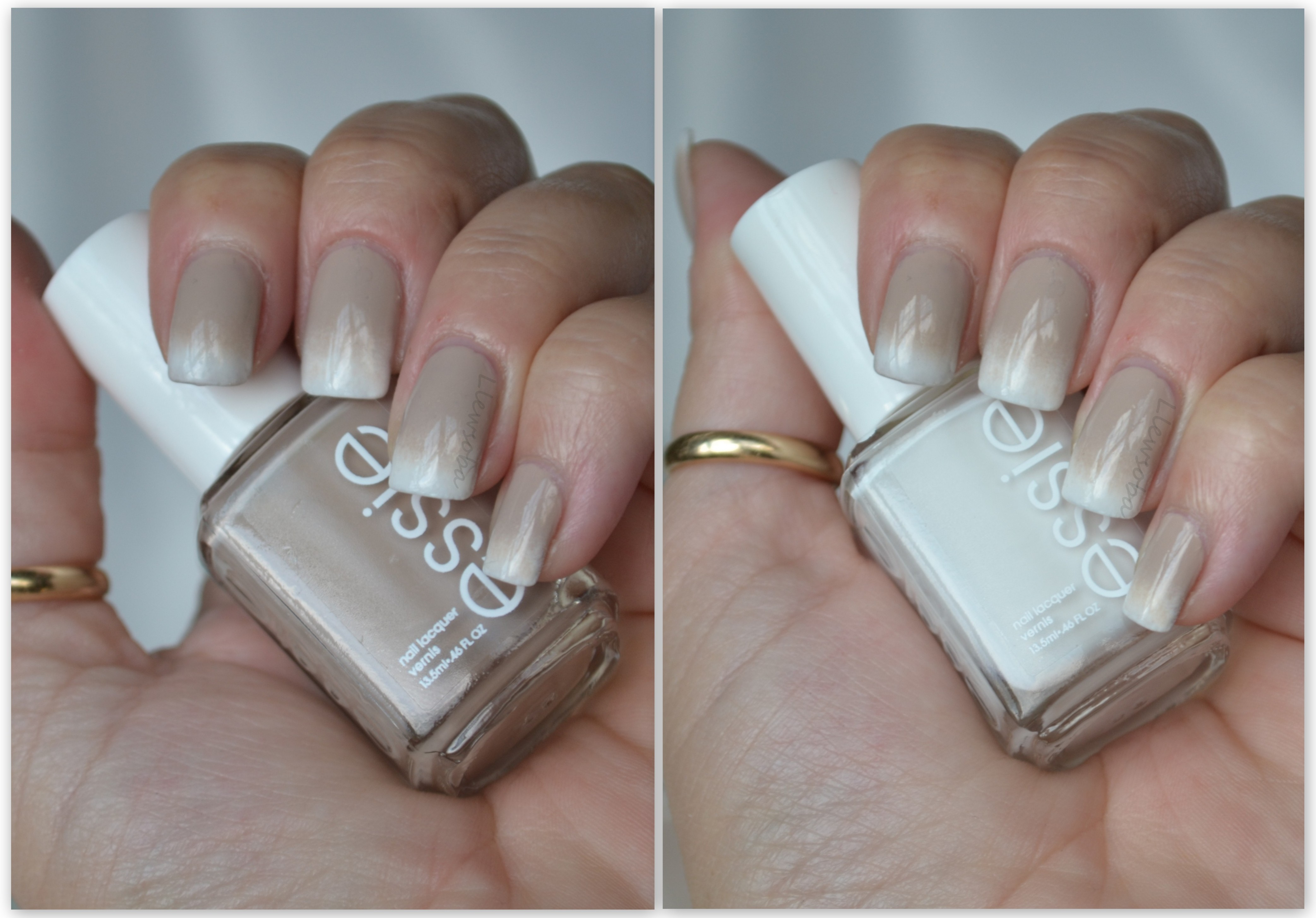 Manicure: Toasted Marshmallow Gradient French Tip – Llewsoba