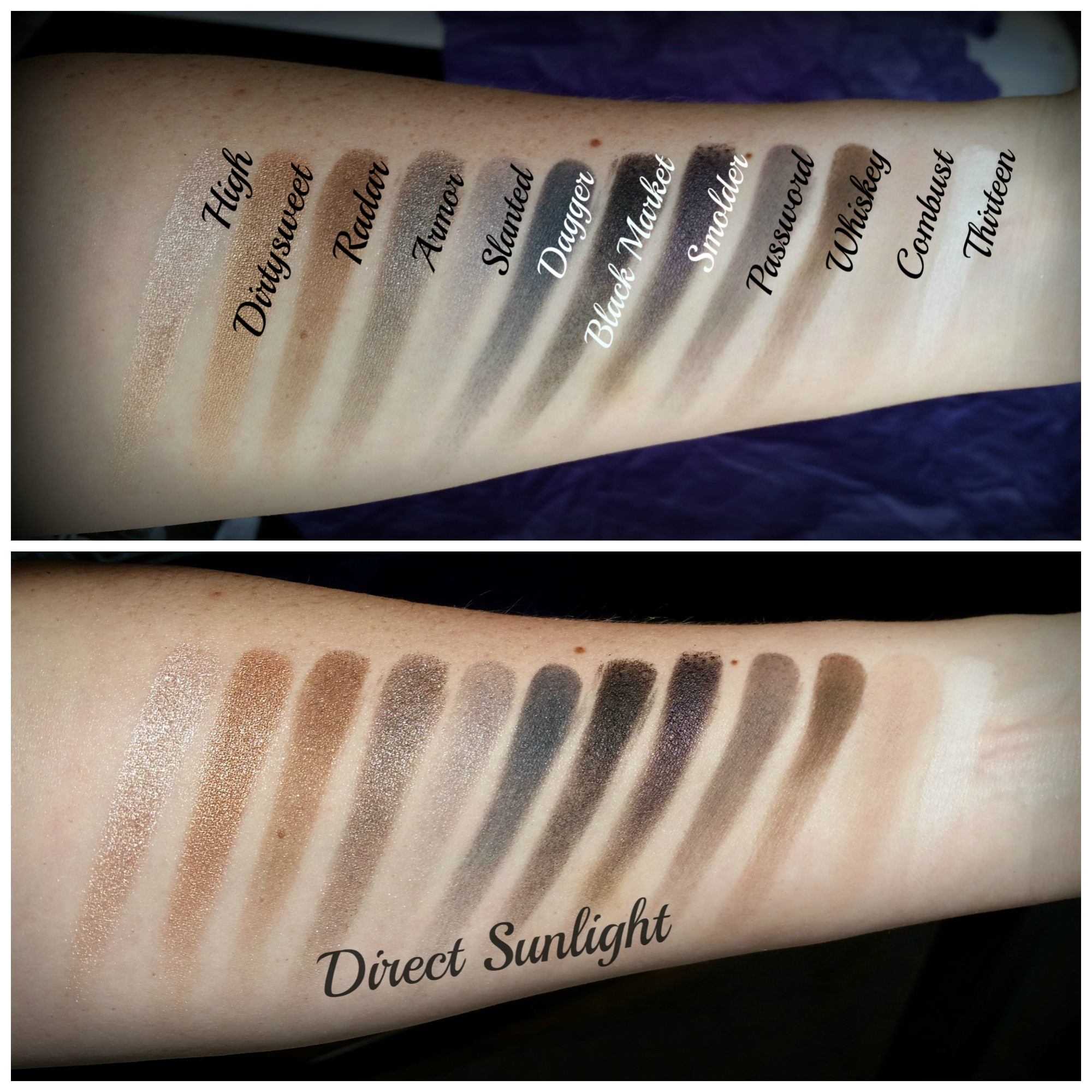 Review Urban Decay Naked Smoky Llewsoba Eyeshadow Palette Swatches
